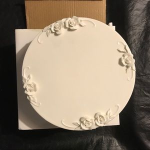 """Antique Reflections Cake Plate 10 1/2"""""""